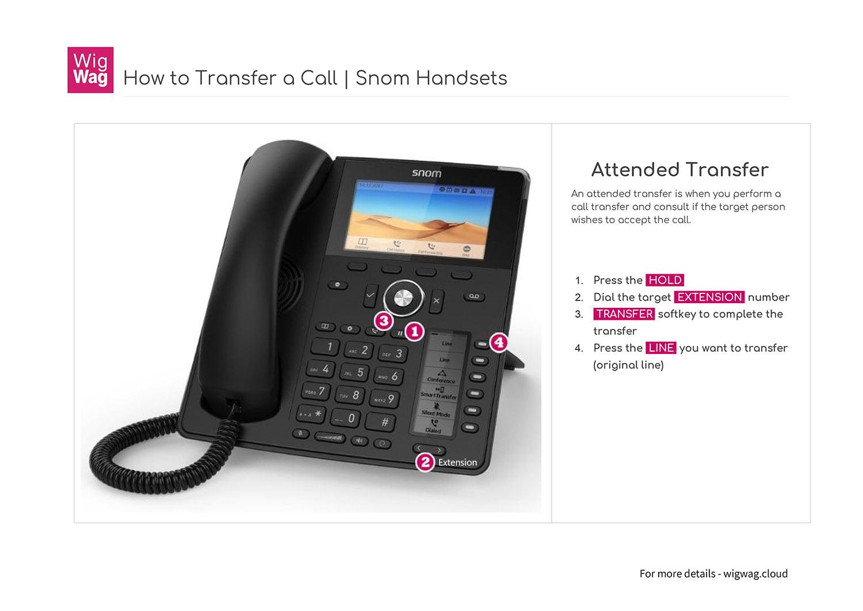 Snom Phones call transfer