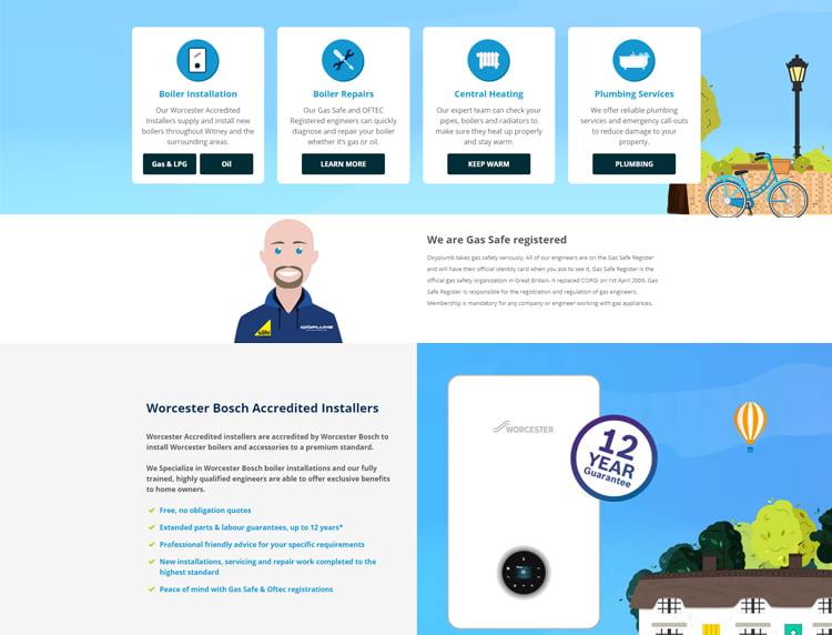 Bespoke Heating Engineer Websites