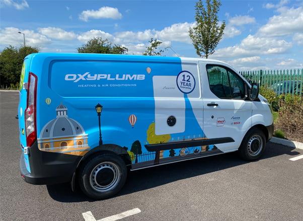 Bespoke Van Graphics For Oxyplumb