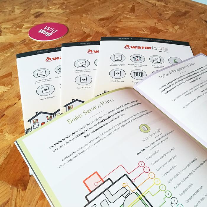 Brochure designs A4 Nottingham