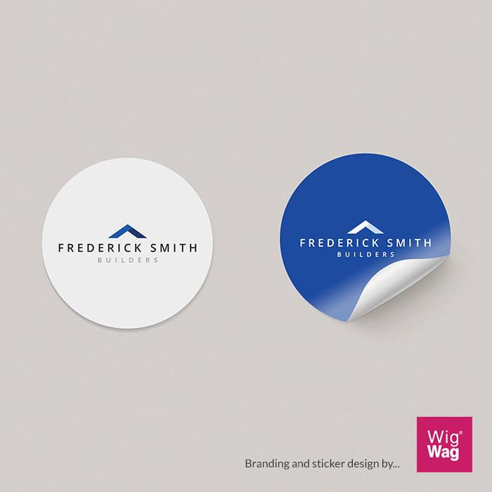 Branded sticker design