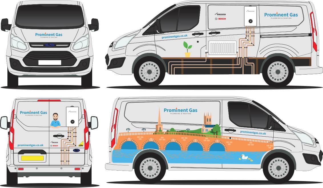 Prominent Gas van design layout
