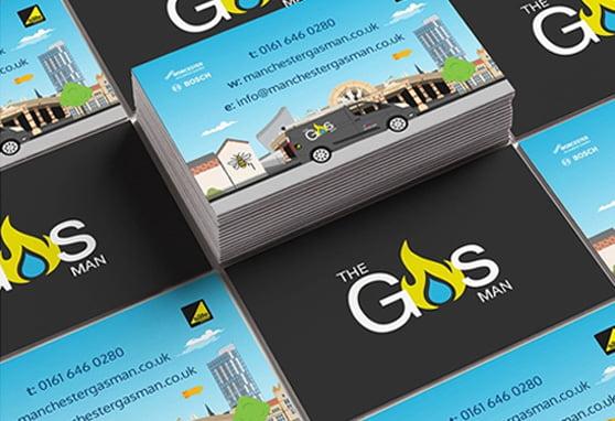 The gas man business card branding