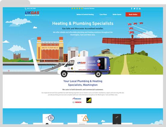 UK Gas Washington, Heating Engineer Website