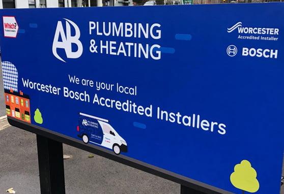 AB Plumbing Signage