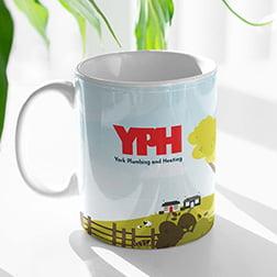 Branded mugs for heating engineers