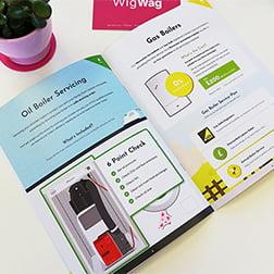Brochures for heating engineers