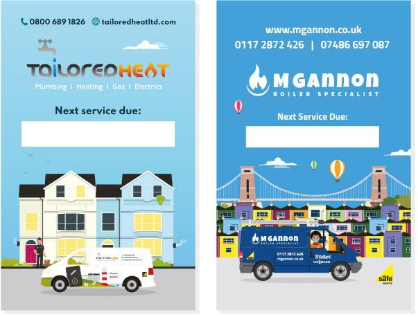 Boiler Service Stickers