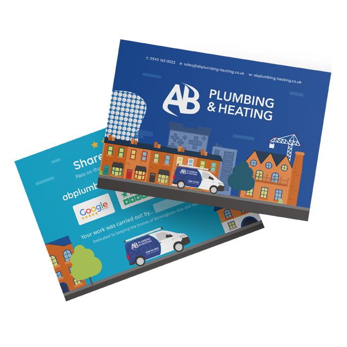 Heating engineers bespoke postcards