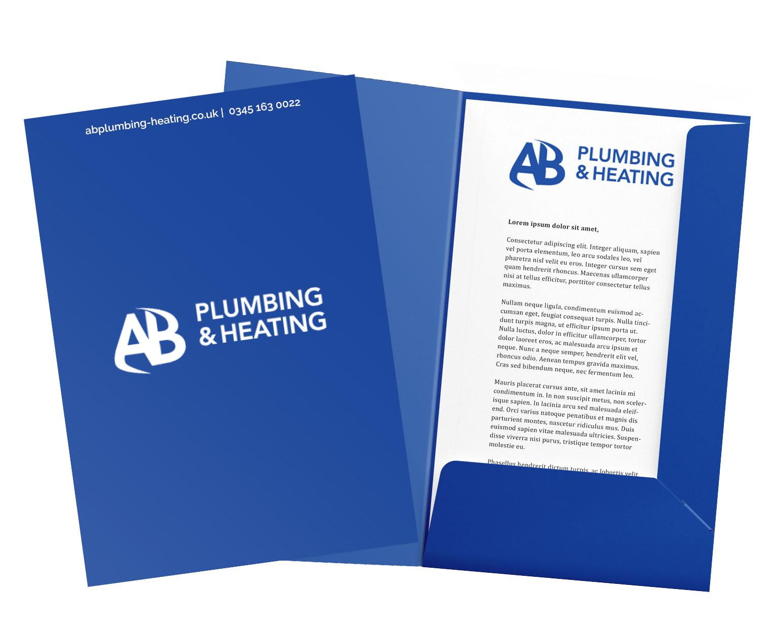 Heating engineers standard A4 presentation folders