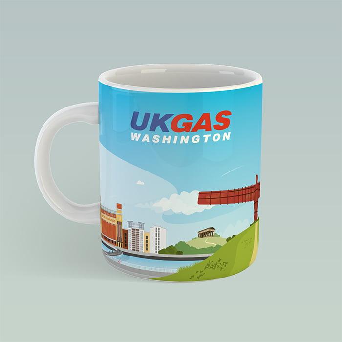 Bespoke branded mug design