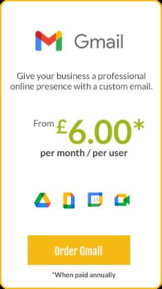 Gmail email hosting Nottingham
